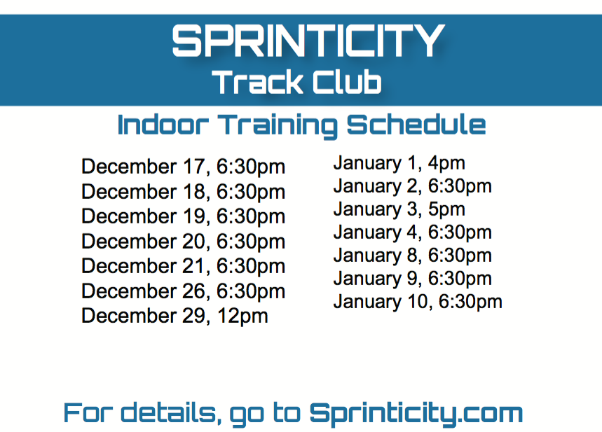 Winter Training Schedule