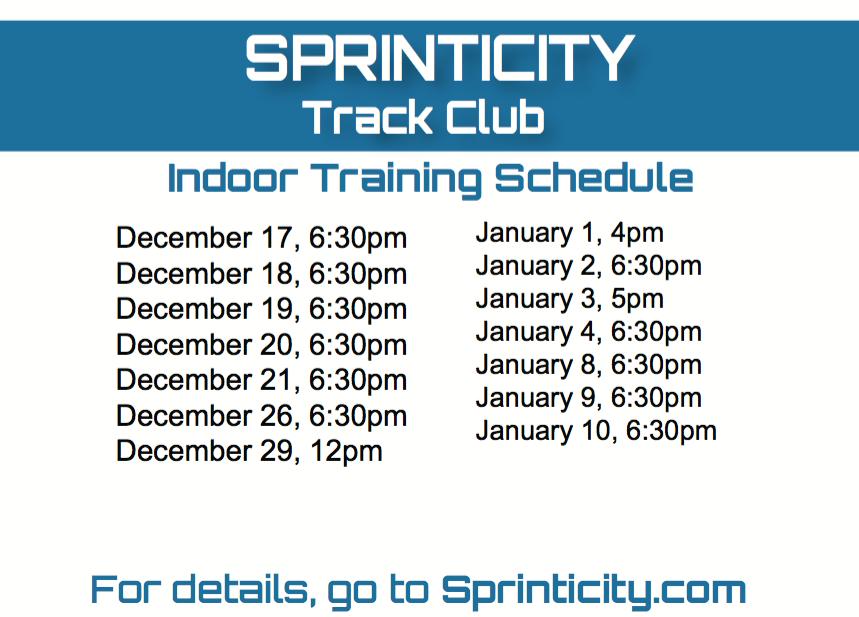 Winter Training Schedule